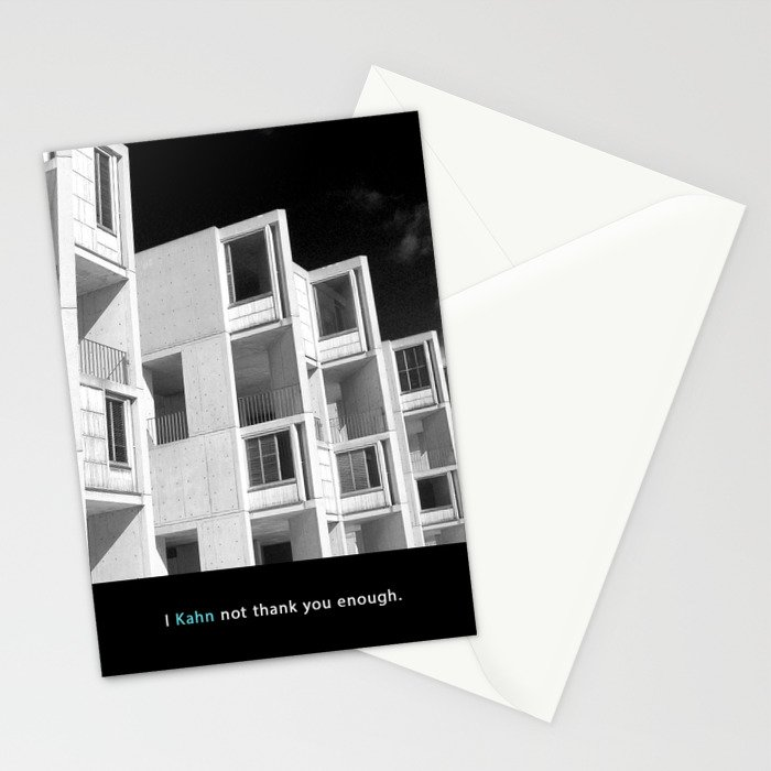 I Kahn not thank you enough.  Stationery Cards