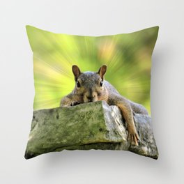 Relaxed Squirrel Throw Pillow
