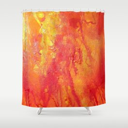 Twin fires - One Shower Curtain