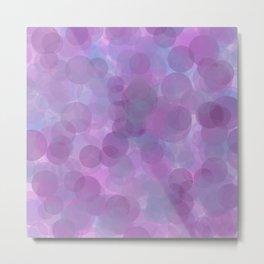 Lavender Bubbles Metal Print