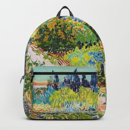 Vincent van Gogh - Garden At Arles, Flowering Garden With Path - Digital Remastered Edition Backpack