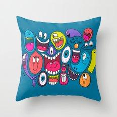Friendly Faces Throw Pillow