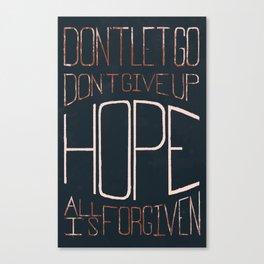 Don't Let Go... Canvas Print