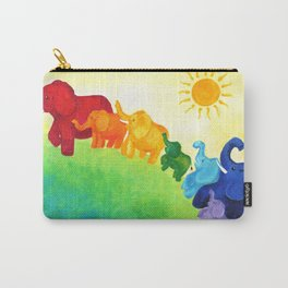 Elephant Rainbow Carry-All Pouch