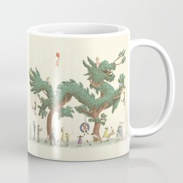 The Night Gardener - Dragon Topiary  Coffee Mug