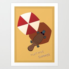 Platypus summer Art Print