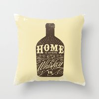 whiskey Throw Pillows featuring Whiskey by irosebot