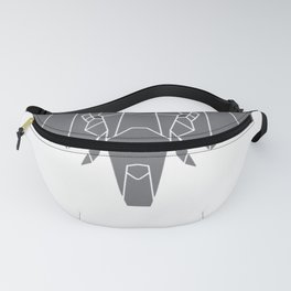 Indian Elephant Polygon Art Gift for Animal Lover T-Shirt Fanny Pack