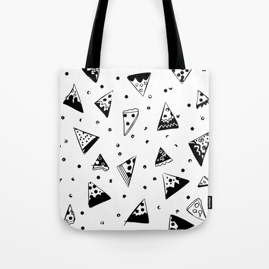 Hipster pizza seamless drawing Tote Bag