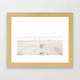 Ocean Beach in White 2 Framed Art Print
