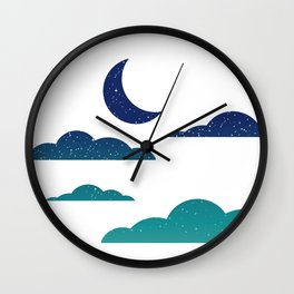 Starry Clouds Wall Clock