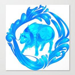 2015 Zodiac-Water Ox Canvas Print