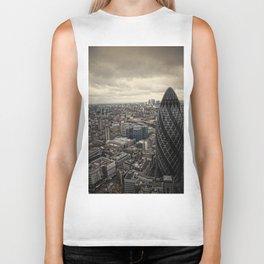 London from the 39th floor Biker Tank
