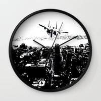 airplane Wall Clocks featuring airplane by Anand Brai