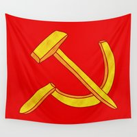 fries Wall Tapestries featuring Russian Fries by luis pippi