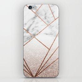 Rose glitter rising geo iPhone Skin