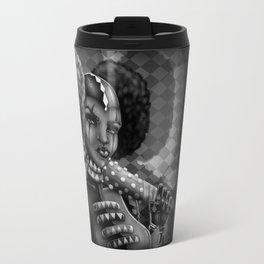 Black Harlequin  Travel Mug
