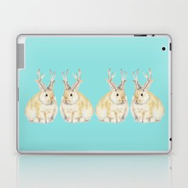 Watercolor Grumpy Jackalope Antler Bunny Laptop & iPad Skin