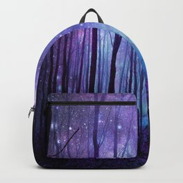 Fantasy Forest Path Icy Violet Blue Backpack