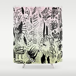 SOLO MEO PINK Shower Curtain