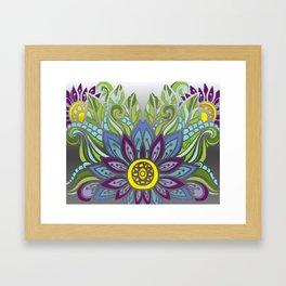 Peaceful Flower Framed Art Print