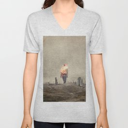 These cities burned my soul Unisex V-Neck