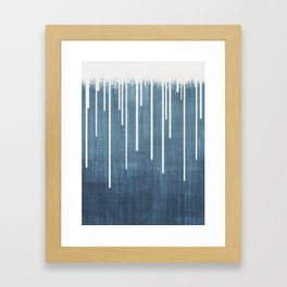 DROPS / Azure Blue, Cool Gray Framed Art Print