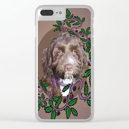 Pup in Blackberry brambles Clear iPhone Case