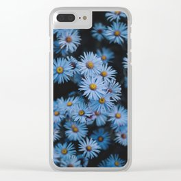 Blue Asters Clear iPhone Case