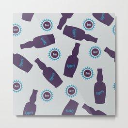 Beer bottle Metal Print