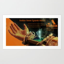 Badidas Genen Dynamik Medical Art Print