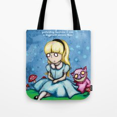 Alice Can't Go Back Tote Bag