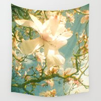 magnolia Wall Tapestries featuring Magnolia by Cassia Beck