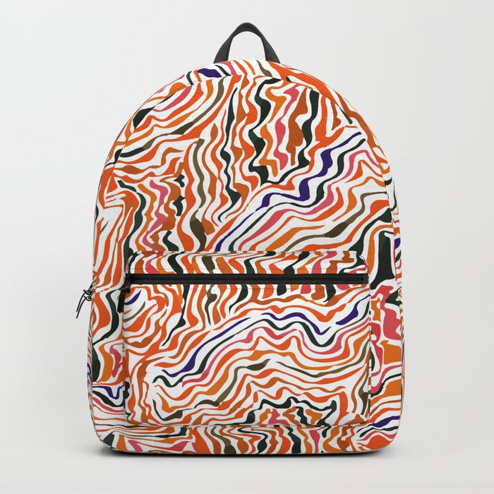 red topography Backpack