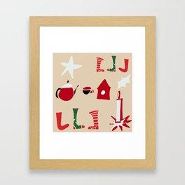 Christmas Cosy Ivory Framed Art Print