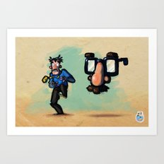 Use Verb on Noun #10: Zak McKracken and the Alien Mindbenders Art Print