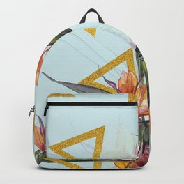 Floral Gold Triangle #society6 #buyart #homedecor Backpack