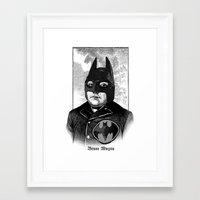 bat man Framed Art Prints featuring BAT MAN by DIVIDUS