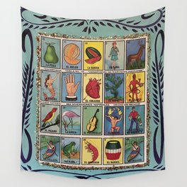 Mexican Bingo Loteria Wall Tapestry