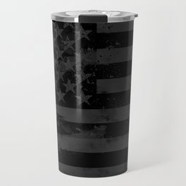 Black American Flag Travel Mug