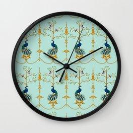 Rococo Peacocks Wall Clock