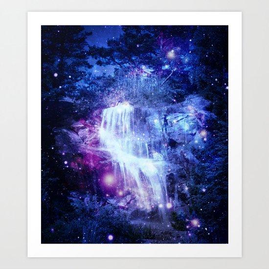 Magical Waterfall Art Print