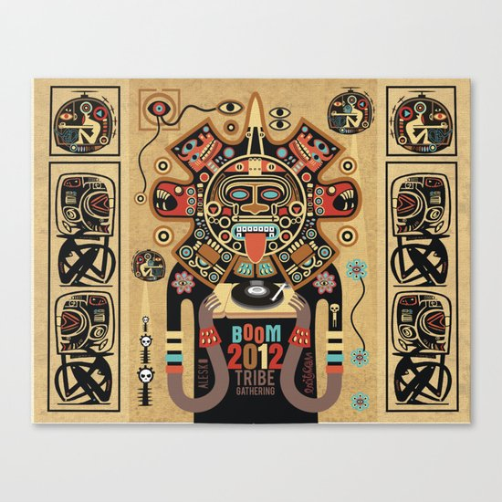 Mayas Spirit - Boom 2012 Canvas Print