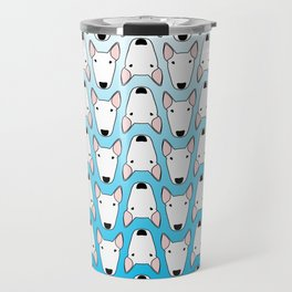 small gridlock duffle blue gradient Travel Mug