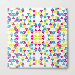 Triangle CMY Metal Print