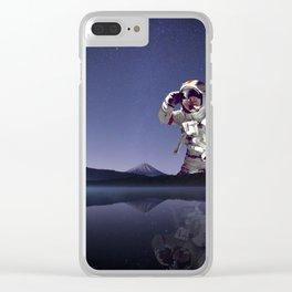 The Giant Astronaut-Mt Rainier Washington State Clear iPhone Case