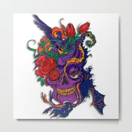Violet carve Metal Print