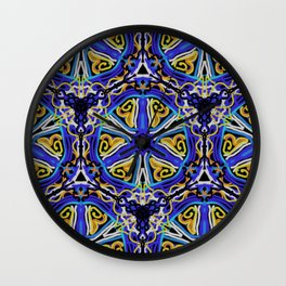 Abstract Sand Dollars Wall Clock