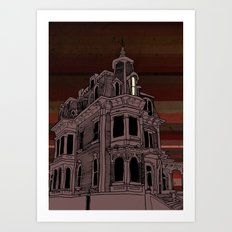 Haunted House #3 Art Print