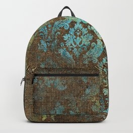 Aged Damask Texture 4 Backpack